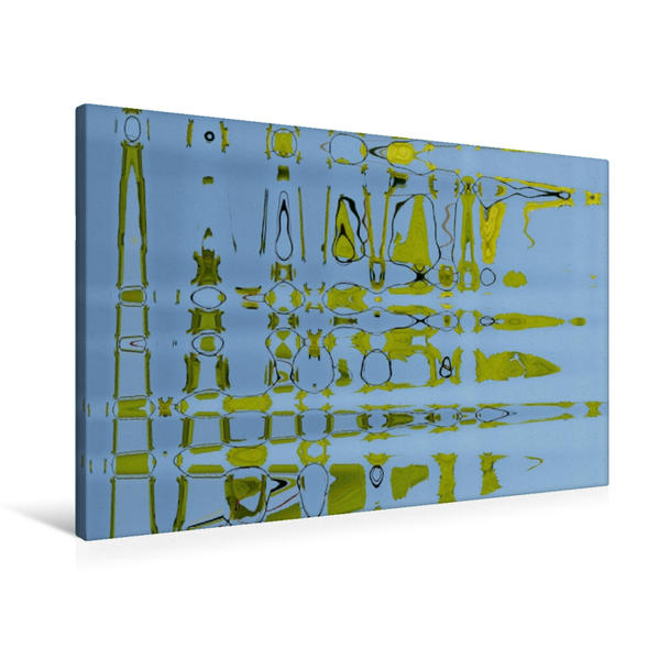 Premium Textil-Leinwand 90 cm x 60 cm quer, Frisches Grün | Wandbild, Bild auf Keilrahmen, Fertigbild auf echter Leinwand, Leinwanddruck - Coverbild