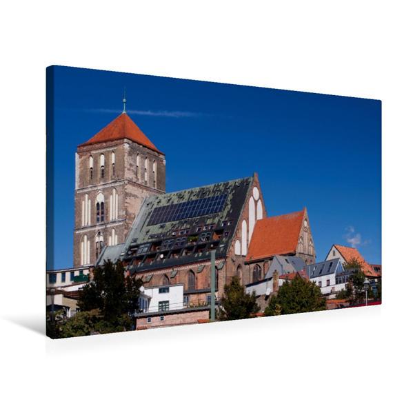 Premium Textil-Leinwand 75 cm x 50 cm quer, Nikolaikirche | Wandbild, Bild auf Keilrahmen, Fertigbild auf echter Leinwand, Leinwanddruck - Coverbild