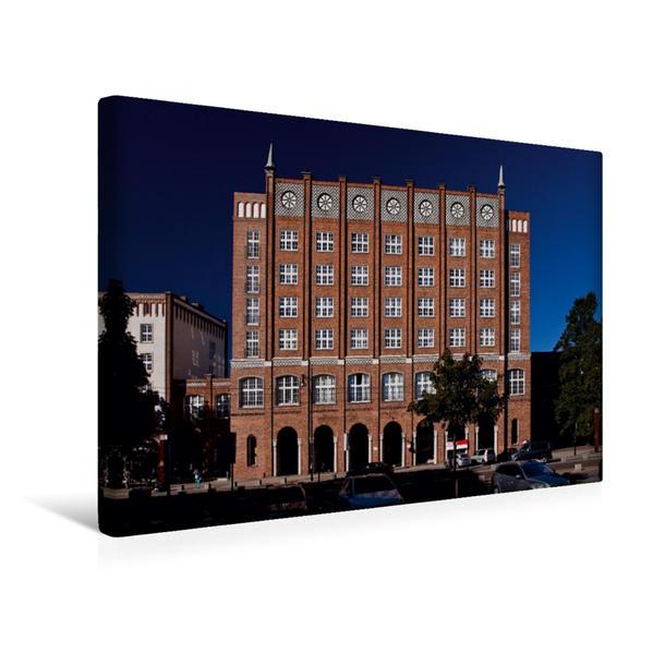 Premium Textil-Leinwand 45 cm x 30 cm quer, Lange Straße | Wandbild, Bild auf Keilrahmen, Fertigbild auf echter Leinwand, Leinwanddruck - Coverbild