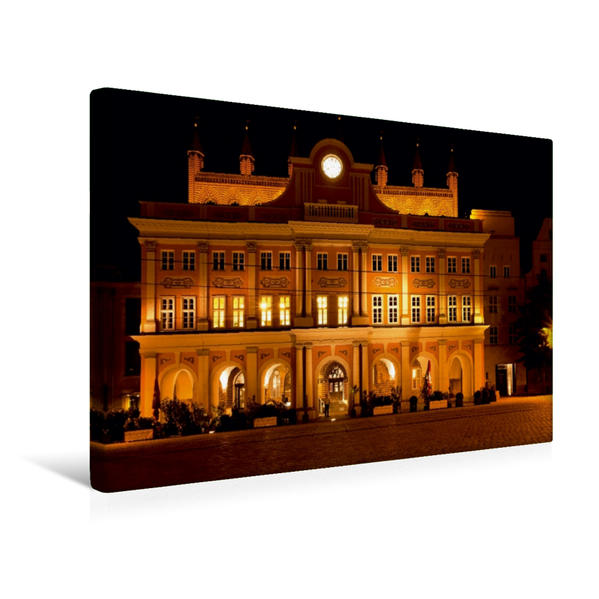 Premium Textil-Leinwand 45 cm x 30 cm quer, Rathaus | Wandbild, Bild auf Keilrahmen, Fertigbild auf echter Leinwand, Leinwanddruck - Coverbild