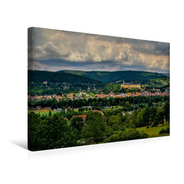 Premium Textil-Leinwand 45 cm x 30 cm quer, Ein Motiv aus dem Kalender Rudolstadt bei Tag und Nacht | Wandbild, Bild auf Keilrahmen, Fertigbild auf echter Leinwand, Leinwanddruck - Coverbild