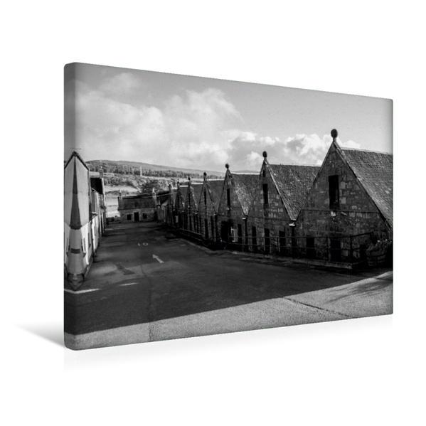 Premium Textil-Leinwand 45 cm x 30 cm quer, Brora Destillerie | Wandbild, Bild auf Keilrahmen, Fertigbild auf echter Leinwand, Leinwanddruck - Coverbild