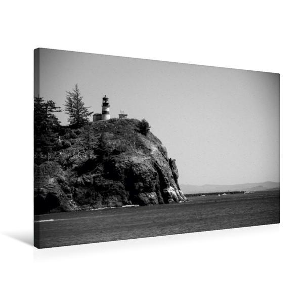 Premium Textil-Leinwand 75 cm x 50 cm quer, Cape Disappointment Lighthouse, Washington | Wandbild, Bild auf Keilrahmen, Fertigbild auf echter Leinwand, Leinwanddruck - Coverbild
