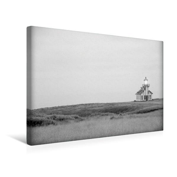 Premium Textil-Leinwand 45 cm x 30 cm quer, Point Cabrillo Lighthouse, Kalifornien | Wandbild, Bild auf Keilrahmen, Fertigbild auf echter Leinwand, Leinwanddruck - Coverbild