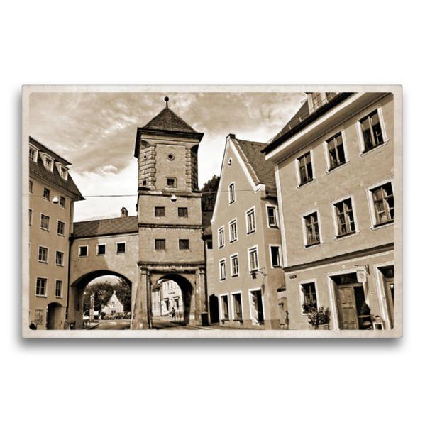Premium Textil-Leinwand 75 cm x 50 cm quer, Sandauer Tor | Wandbild, Bild auf Keilrahmen, Fertigbild auf echter Leinwand, Leinwanddruck - Coverbild