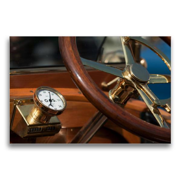 Premium Textil-Leinwand 75 cm x 50 cm quer, Ein Motiv aus dem Kalender Vintage cars | Wandbild, Bild auf Keilrahmen, Fertigbild auf echter Leinwand, Leinwanddruck - Coverbild