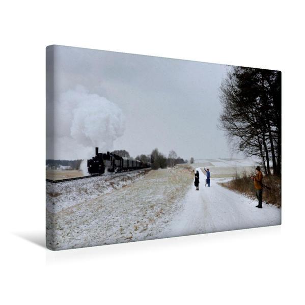 Premium Textil-Leinwand 45 cm x 30 cm quer, 92.2271 und 93.1420 nächst Zwettl (A) | Wandbild, Bild auf Keilrahmen, Fertigbild auf echter Leinwand, Leinwanddruck - Coverbild