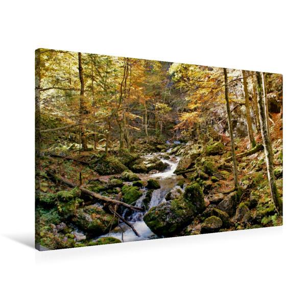 Premium Textil-Leinwand 90 cm x 60 cm quer, Hartelsgraben   Wandbild, Bild auf Keilrahmen, Fertigbild auf echter Leinwand, Leinwanddruck - Coverbild