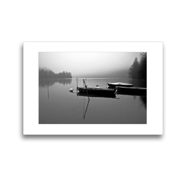 Premium Textil-Leinwand 45 cm x 30 cm quer, Ein Motiv aus dem Kalender Nebel um Landsberg am Lech | Wandbild, Bild auf Keilrahmen, Fertigbild auf echter Leinwand, Leinwanddruck - Coverbild