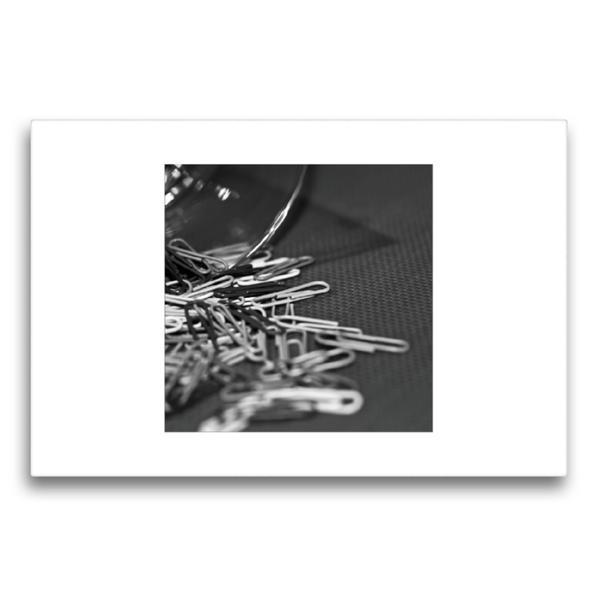 Premium Textil-Leinwand 75 cm x 50 cm quer, Büroklammern | Wandbild, Bild auf Keilrahmen, Fertigbild auf echter Leinwand, Leinwanddruck - Coverbild