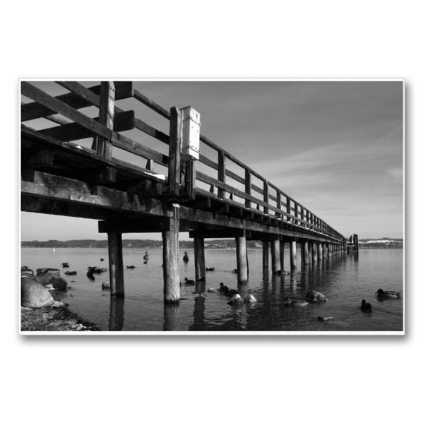 Premium Textil-Leinwand 90 cm x 60 cm quer, Ein Motiv aus dem Kalender Bilder vom See | Wandbild, Bild auf Keilrahmen, Fertigbild auf echter Leinwand, Leinwanddruck - Coverbild
