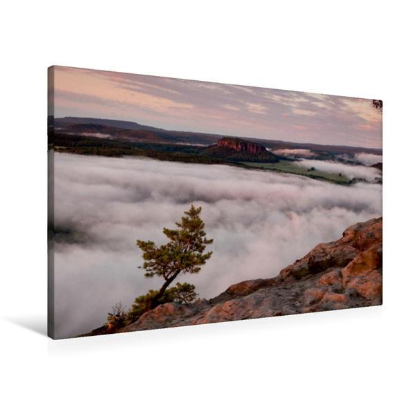Premium Textil-Leinwand 90 cm x 60 cm quer, Pfaffenstein | Wandbild, Bild auf Keilrahmen, Fertigbild auf echter Leinwand, Leinwanddruck - Coverbild