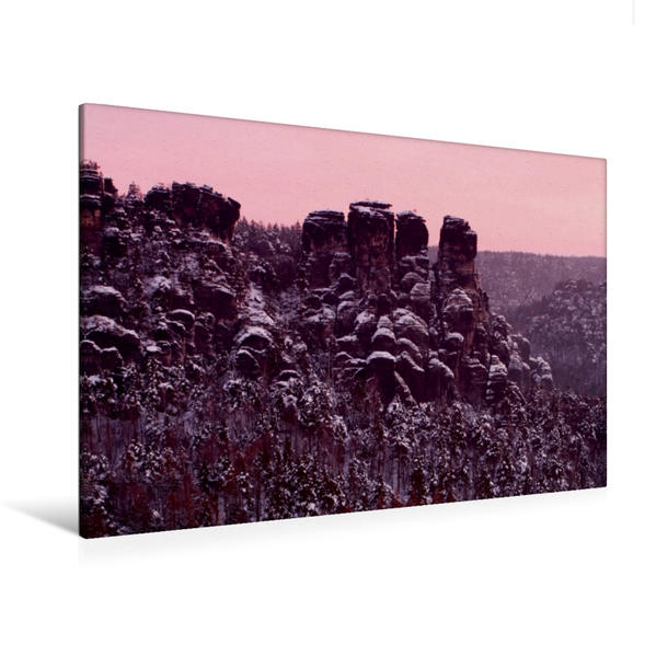 Premium Textil-Leinwand 120 cm x 80 cm quer, Gansfelsen | Wandbild, Bild auf Keilrahmen, Fertigbild auf echter Leinwand, Leinwanddruck - Coverbild