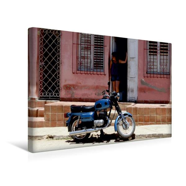 Premium Textil-Leinwand 45 cm x 30 cm quer, Motorrad