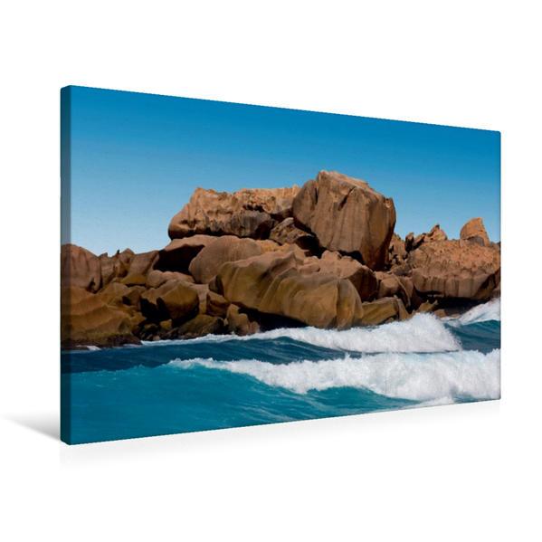 Premium Textil-Leinwand 75 cm x 50 cm quer, Wellenbrecher | Wandbild, Bild auf Keilrahmen, Fertigbild auf echter Leinwand, Leinwanddruck - Coverbild