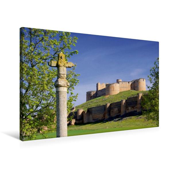 Premium Textil-Leinwand 90 cm x 60 cm quer, Berlanga de Duero | Wandbild, Bild auf Keilrahmen, Fertigbild auf echter Leinwand, Leinwanddruck - Coverbild