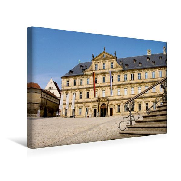 Premium Textil-Leinwand 45 cm x 30 cm quer, Bamberg Neue Residenz | Wandbild, Bild auf Keilrahmen, Fertigbild auf echter Leinwand, Leinwanddruck - Coverbild