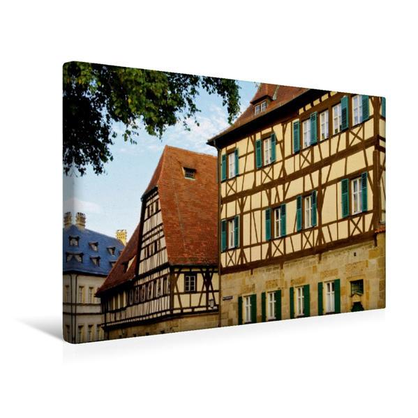 Premium Textil-Leinwand 45 cm x 30 cm quer, Fachwerkhäuser in Bamberg | Wandbild, Bild auf Keilrahmen, Fertigbild auf echter Leinwand, Leinwanddruck - Coverbild