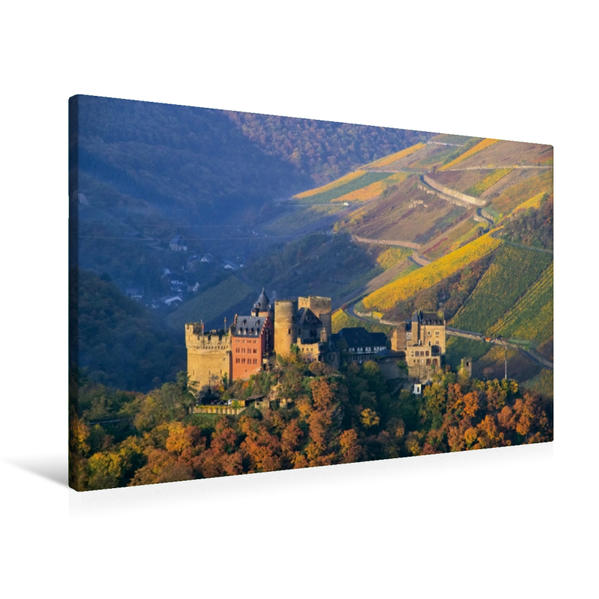 Premium Textil-Leinwand 90 cm x 60 cm quer, Schönburg | Wandbild, Bild auf Keilrahmen, Fertigbild auf echter Leinwand, Leinwanddruck - Coverbild
