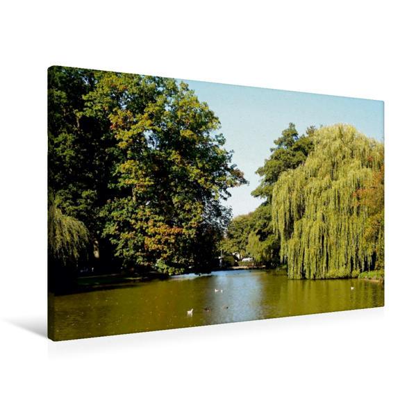 Premium Textil-Leinwand 90 cm x 60 cm quer, Graftanlage | Wandbild, Bild auf Keilrahmen, Fertigbild auf echter Leinwand, Leinwanddruck - Coverbild