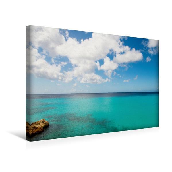 Premium Textil-Leinwand 45 cm x 30 cm quer, Ein Motiv aus dem Kalender Trauminsel Curaçao   Wandbild, Bild auf Keilrahmen, Fertigbild auf echter Leinwand, Leinwanddruck - Coverbild