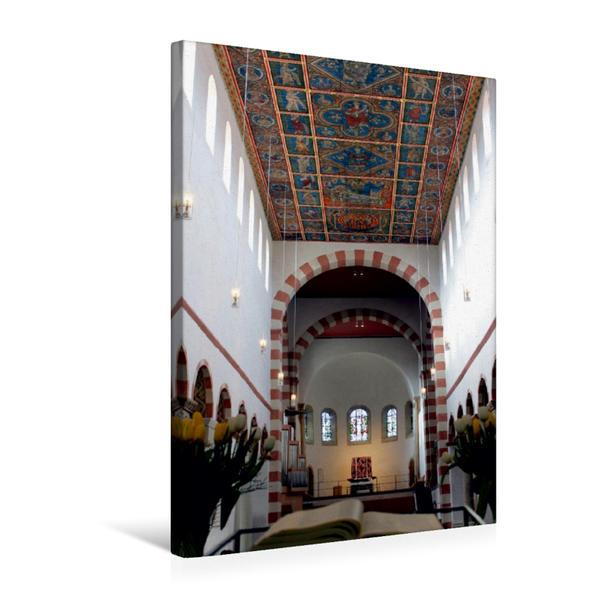 Premium Textil-Leinwand 50 cm x 75 cm hoch, Blick in das Mittelschiff - Michaeliskirche. | Wandbild, Bild auf Keilrahmen, Fertigbild auf echter Leinwand, Leinwanddruck - Coverbild