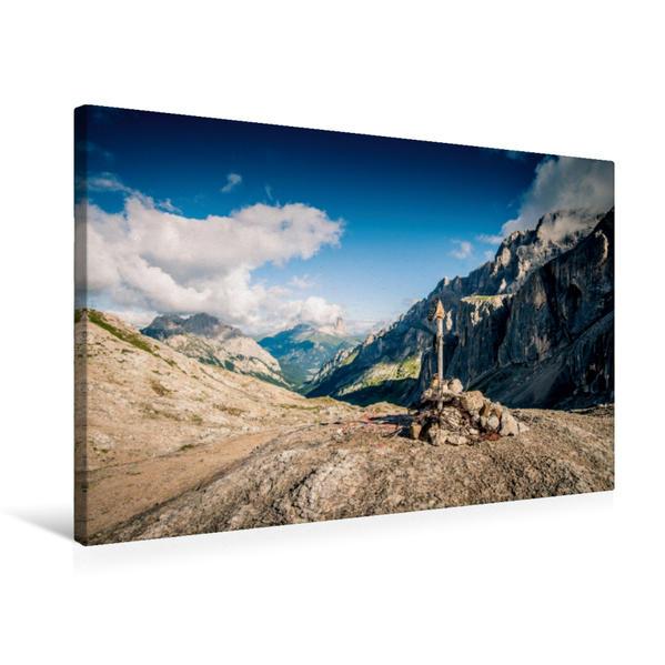 Premium Textil-Leinwand 75 cm x 50 cm quer, Val Da Las Tas Cia   Wandbild, Bild auf Keilrahmen, Fertigbild auf echter Leinwand, Leinwanddruck - Coverbild