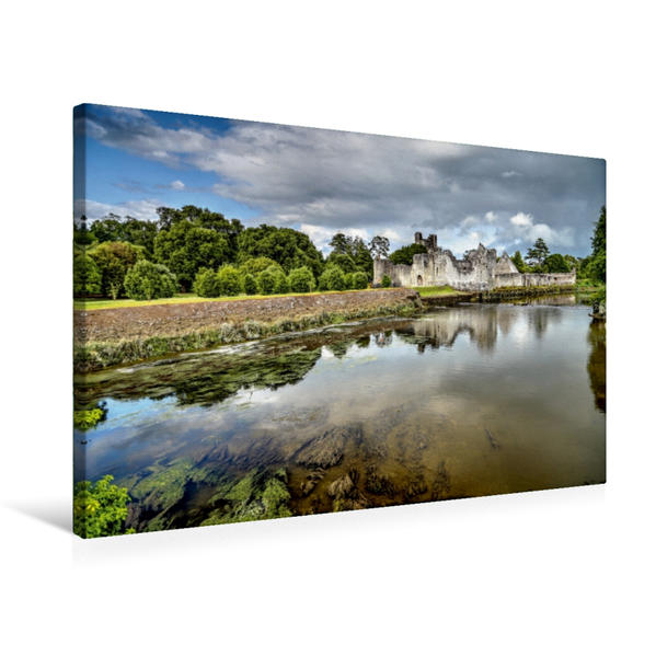 Premium Textil-Leinwand 75 cm x 50 cm quer, Desmond Castle in Adare   Wandbild, Bild auf Keilrahmen, Fertigbild auf echter Leinwand, Leinwanddruck - Coverbild