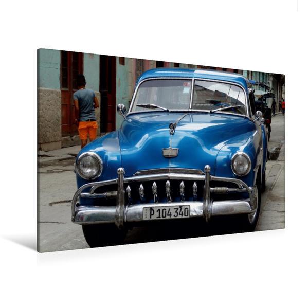 Premium Textil-Leinwand 120 cm x 80 cm quer, Ein Motiv aus dem Kalender Auto-Legenden DESOTO | Wandbild, Bild auf Keilrahmen, Fertigbild auf echter Leinwand, Leinwanddruck - Coverbild