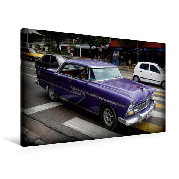 Premium Textil-Leinwand 90 cm x 60 cm quer, Ein Motiv aus dem Kalender Auto-Legenden DESOTO | Wandbild, Bild auf Keilrahmen, Fertigbild auf echter Leinwand, Leinwanddruck - Coverbild
