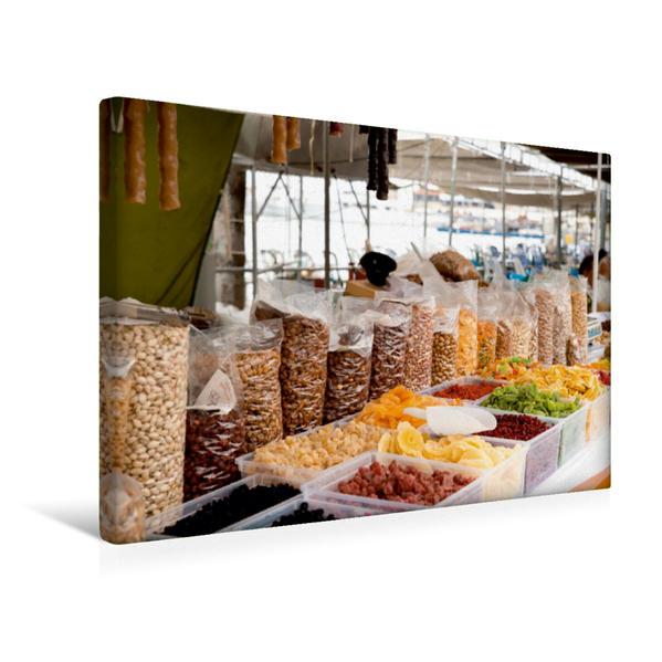 Premium Textil-Leinwand 45 cm x 30 cm quer, Soutzouko, Glyko und Nüsse auf dem Wochenmarkt   Wandbild, Bild auf Keilrahmen, Fertigbild auf echter Leinwand, Leinwanddruck - Coverbild