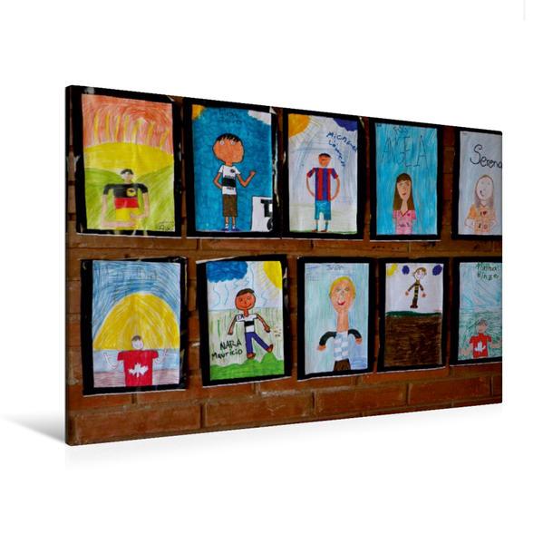 Premium Textil-Leinwand 120 cm x 80 cm quer, Ein Motiv aus dem Kalender Kinderbilder
