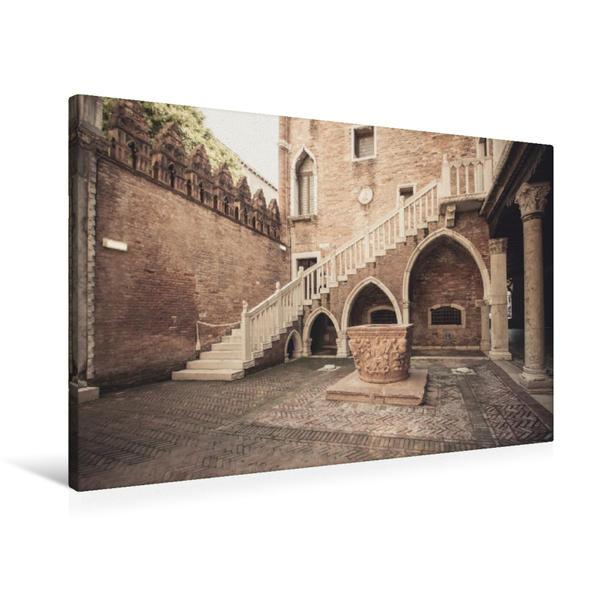 Premium Textil-Leinwand 90 cm x 60 cm quer, Ca´ d´Oro | Wandbild, Bild auf Keilrahmen, Fertigbild auf echter Leinwand, Leinwanddruck - Coverbild