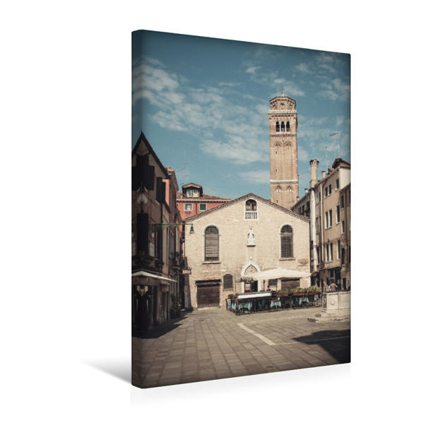 Premium Textil-Leinwand 30 cm x 45 cm hoch, Campo San Tomà | Wandbild, Bild auf Keilrahmen, Fertigbild auf echter Leinwand, Leinwanddruck - Coverbild