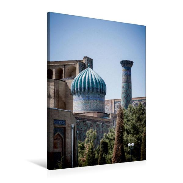 Premium Textil-Leinwand 60 cm x 90 cm hoch, Registan in Samarkand | Wandbild, Bild auf Keilrahmen, Fertigbild auf echter Leinwand, Leinwanddruck - Coverbild