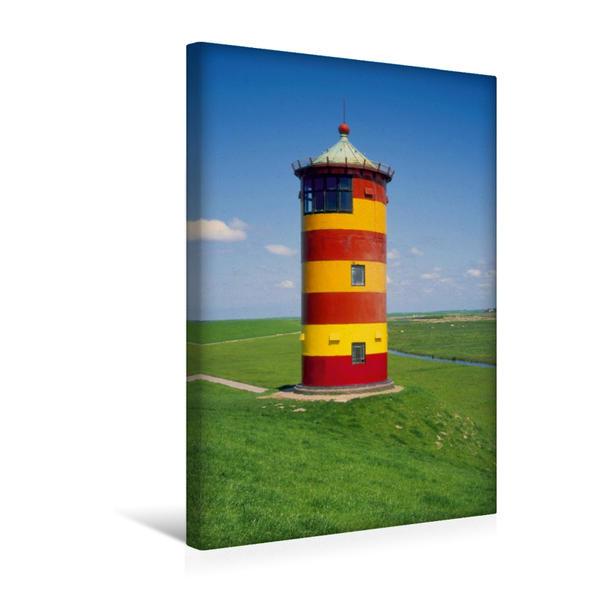 Premium Textil-Leinwand 30 cm x 45 cm hoch, Leuchturm Pilsum, Ostfriesland | Wandbild, Bild auf Keilrahmen, Fertigbild auf echter Leinwand, Leinwanddruck - Coverbild