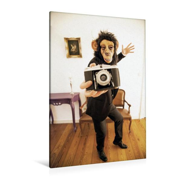 Premium Textil-Leinwand 80 cm x 120 cm  hoch, Ein Motiv aus dem Kalender MASKERADE | Wandbild, Bild auf Keilrahmen, Fertigbild auf echter Leinwand, Leinwanddruck - Coverbild