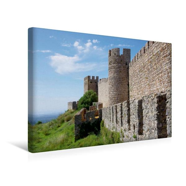 Premium Textil-Leinwand 45 cm x 30 cm quer, Burg Santiago do Cacem | Wandbild, Bild auf Keilrahmen, Fertigbild auf echter Leinwand, Leinwanddruck - Coverbild