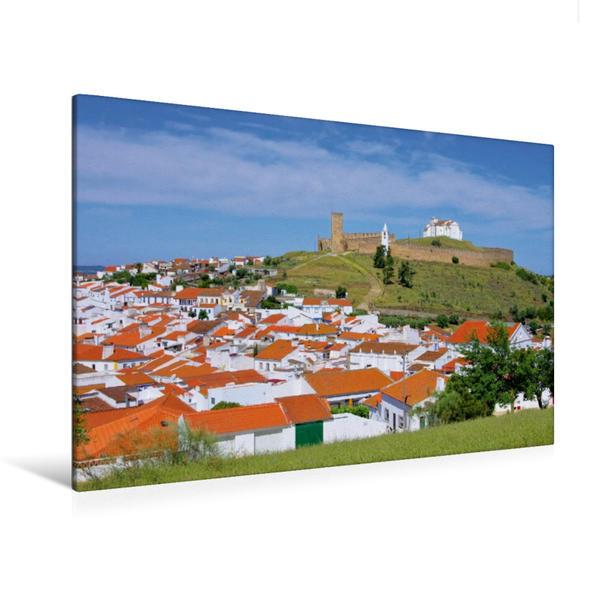 Premium Textil-Leinwand 120 cm x 80 cm quer, Arraiolos | Wandbild, Bild auf Keilrahmen, Fertigbild auf echter Leinwand, Leinwanddruck - Coverbild