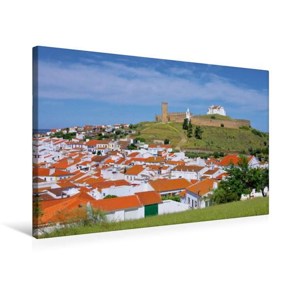 Premium Textil-Leinwand 75 cm x 50 cm quer, Arraiolos | Wandbild, Bild auf Keilrahmen, Fertigbild auf echter Leinwand, Leinwanddruck - Coverbild