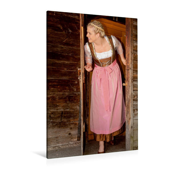 Premium Textil-Leinwand 80 cm x 120 cm  hoch, Hüttentraum | Wandbild, Bild auf Keilrahmen, Fertigbild auf echter Leinwand, Leinwanddruck - Coverbild