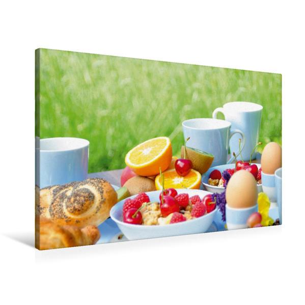 Premium Textil-Leinwand 90 cm x 60 cm quer, Guten Morgen! | Wandbild, Bild auf Keilrahmen, Fertigbild auf echter Leinwand, Leinwanddruck - Coverbild