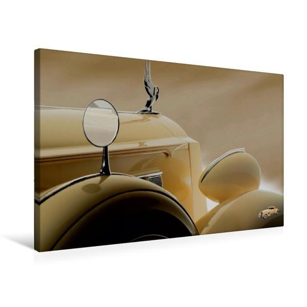 Premium Textil-Leinwand 75 cm x 50 cm quer, Packart Twelve Victoria Cabriolet   Wandbild, Bild auf Keilrahmen, Fertigbild auf echter Leinwand, Leinwanddruck - Coverbild