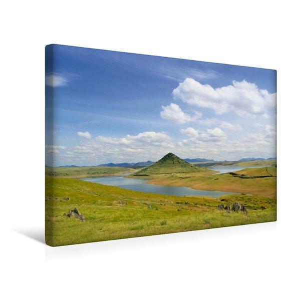 Premium Textil-Leinwand 45 cm x 30 cm quer, Embalse de La Serena | Wandbild, Bild auf Keilrahmen, Fertigbild auf echter Leinwand, Leinwanddruck - Coverbild