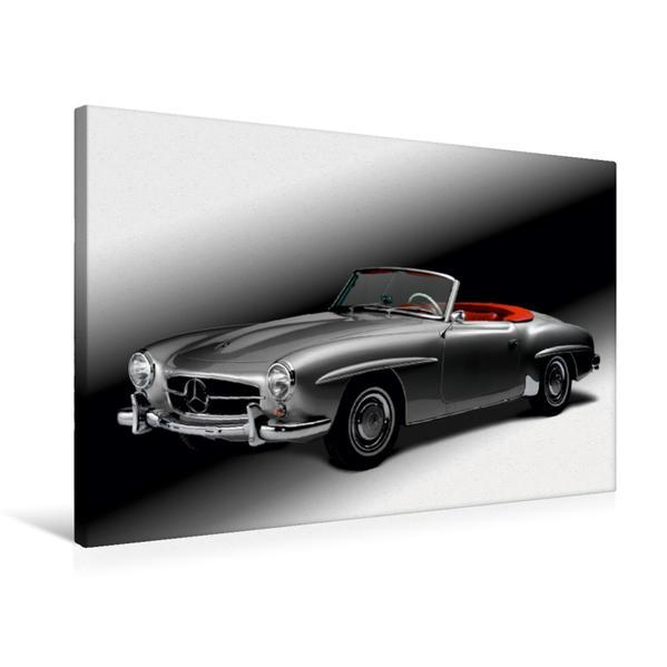 Premium Textil-Leinwand 75 cm x 50 cm quer, Mercedes Benz 190 SL - Bj. 1954 | Wandbild, Bild auf Keilrahmen, Fertigbild auf echter Leinwand, Leinwanddruck - Coverbild