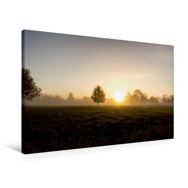 Premium Textil-Leinwand 90 cm x 60 cm quer, Morgendämmerung | Wandbild, Bild auf Keilrahmen, Fertigbild auf echter Leinwand, Leinwanddruck - Coverbild
