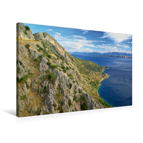 Premium Textil-Leinwand 90 cm x 60 cm quer, Dalmatinische Küste | Wandbild, Bild auf Keilrahmen, Fertigbild auf echter Leinwand, Leinwanddruck - Coverbild