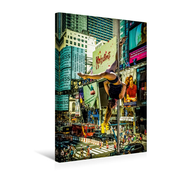 Premium Textil-Leinwand 30 cm x 45 cm hoch, Ein Motiv aus dem Kalender Poledance on the Streets of New York | Wandbild, Bild auf Keilrahmen, Fertigbild auf echter Leinwand, Leinwanddruck - Coverbild
