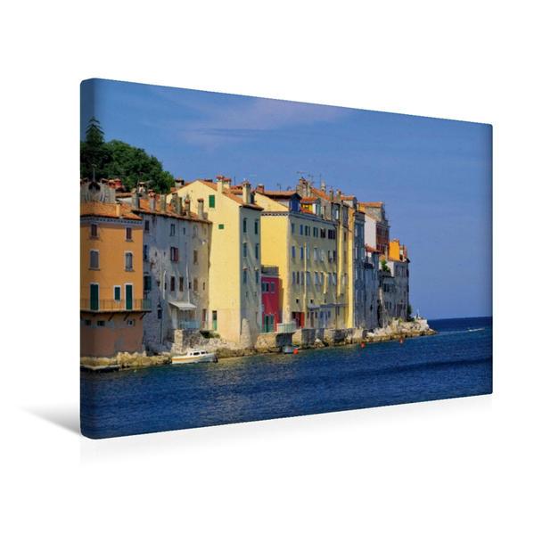 Premium Textil-Leinwand 45 cm x 30 cm quer, Rovinj | Wandbild, Bild auf Keilrahmen, Fertigbild auf echter Leinwand, Leinwanddruck - Coverbild