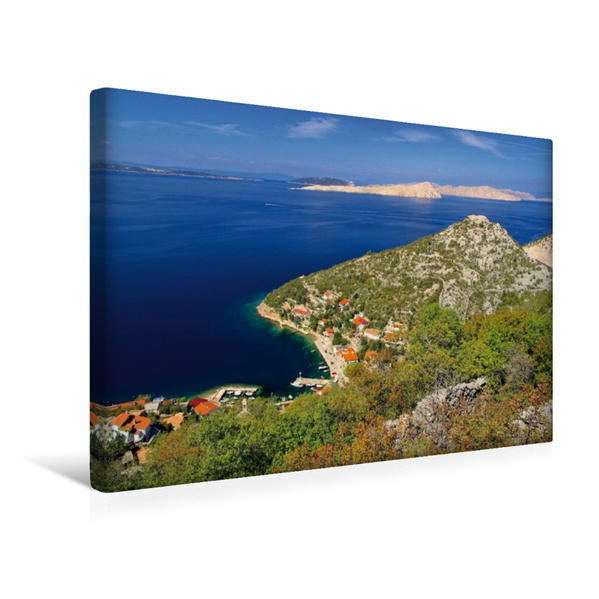 Premium Textil-Leinwand 45 cm x 30 cm quer, Stari Grad   Wandbild, Bild auf Keilrahmen, Fertigbild auf echter Leinwand, Leinwanddruck - Coverbild